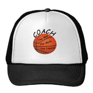 Entrenador de béisbol - el hombre el mito - la gorras de camionero