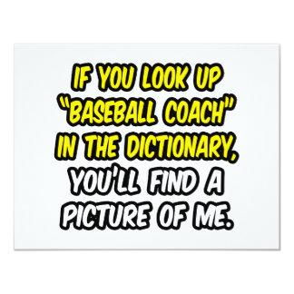 Entrenador de béisbol en diccionario… mi imagen anuncio