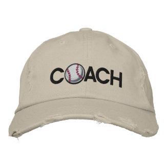 Entrenador de béisbol gorras de béisbol bordadas