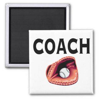 Entrenador de béisbol (guante) imán cuadrado