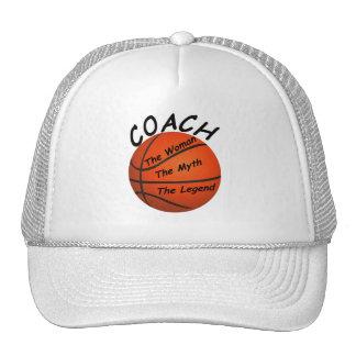 Entrenador de béisbol - la mujer el mito - el gorra