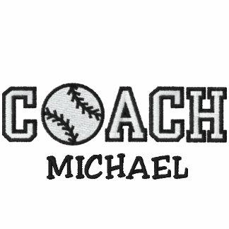 Entrenador de béisbol personalizado camiseta polo