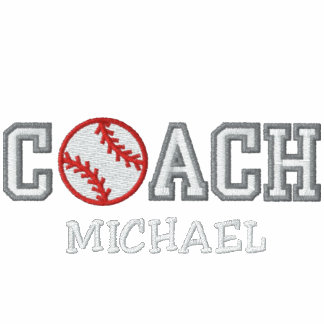 Entrenador de béisbol personalizado camiseta polo bordada