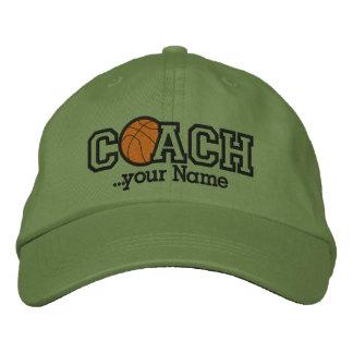 Entrenador de béisbol personalizado con su nombre gorros bordados