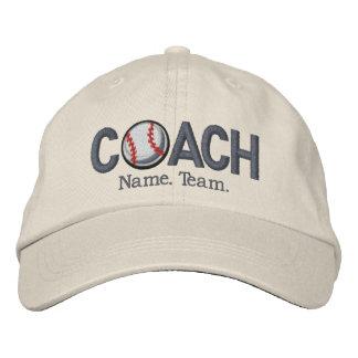 Entrenador de béisbol personalizado gorra bordada