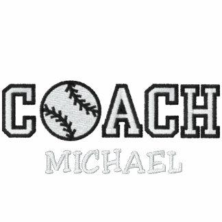 Entrenador de béisbol personalizado polo bordado