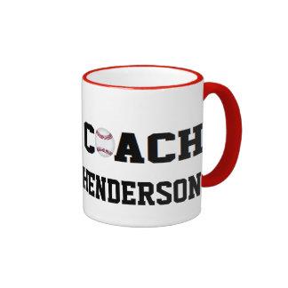 Entrenador de béisbol - personalizado taza de dos colores