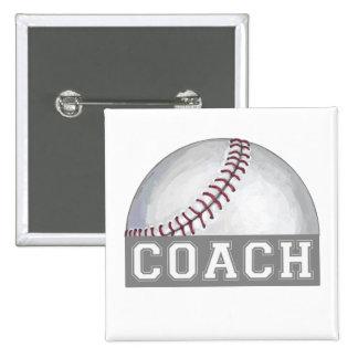 Entrenador de béisbol pin cuadrado