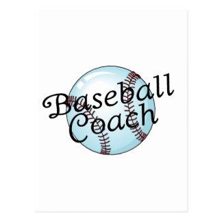 Entrenador de béisbol postales