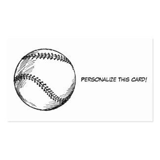 Entrenador de béisbol retro tarjetas de visita