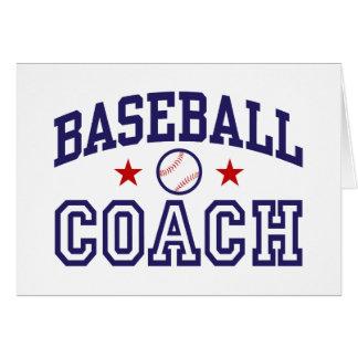 Entrenador de béisbol tarjeta