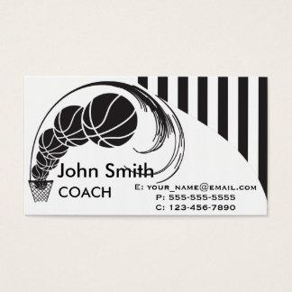 Entrenador de béisbol tarjeta de negocios