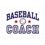 Entrenador de béisbol tarjeta postal