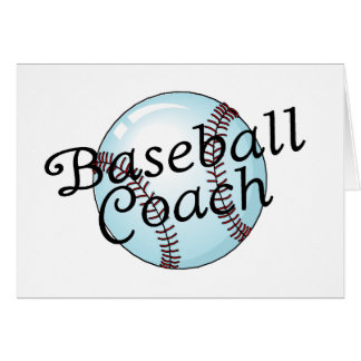 Entrenador de béisbol tarjetón