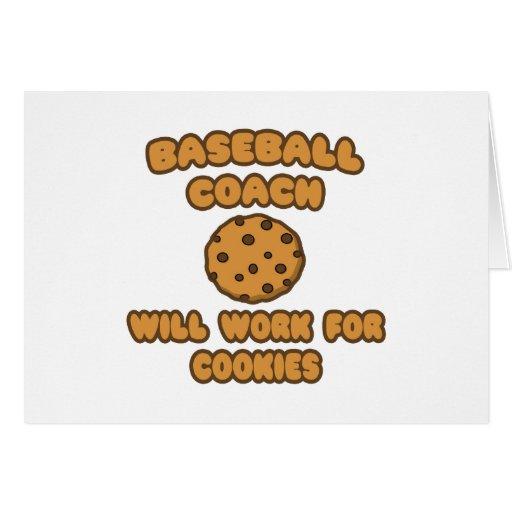 Entrenador de béisbol. Trabajará para las galletas Felicitacion