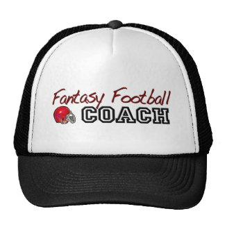 Entrenador de fútbol de la fantasía gorras
