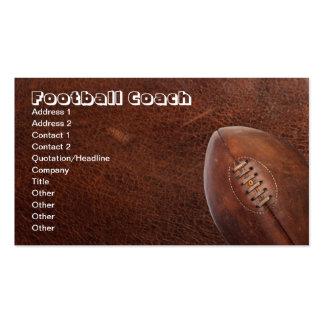 Entrenador de fútbol de los deportes, o jugador de tarjeta de visita