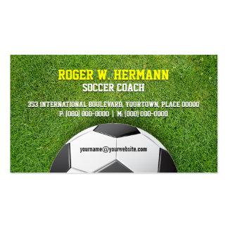 Entrenador de fútbol del fútbol tarjeta de visita