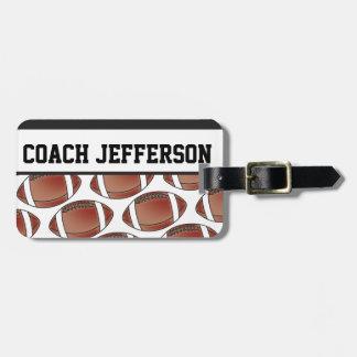 Entrenador de fútbol personalizado etiquetas de equipaje