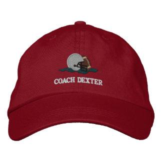 Entrenador de fútbol personalizado gorra de beisbol bordada