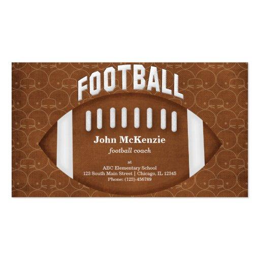 Entrenador de fútbol plantilla de tarjeta de negocio