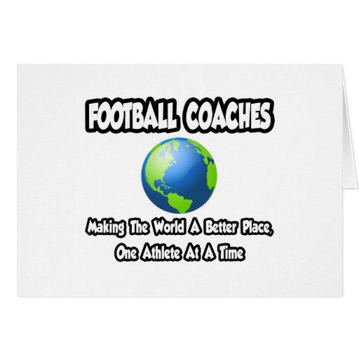 Entrenadores de fútbol… que hacen el mundo un mejo tarjeta