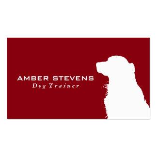 Entrenamiento canino del perro del primer el | tarjetas de visita