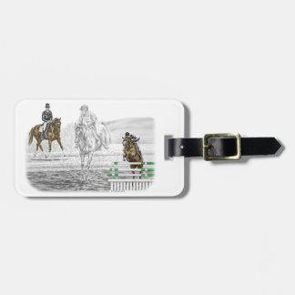 entrenamiento combinado de los caballos de tres etiquetas para equipaje