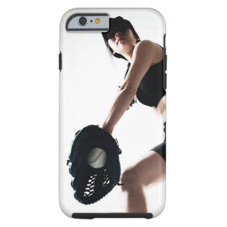 entrenamiento de la mujer joven, béisbol funda para iPhone 6 tough