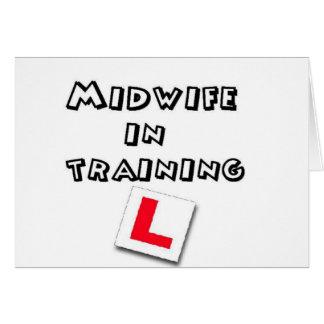 entrenamiento de la partera tarjeta de felicitación