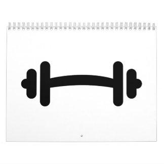 Entrenamiento de la pesa de gimnasia del Barbell Calendario