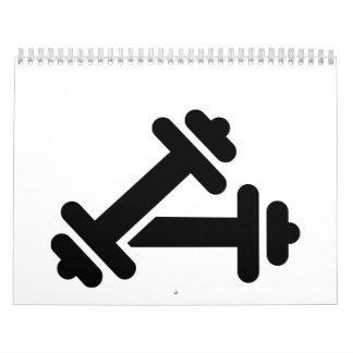 Entrenamiento de la pesa de gimnasia del Barbell Calendario De Pared