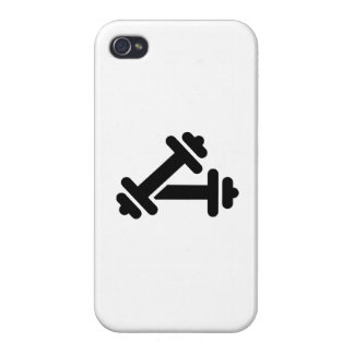 Entrenamiento de la pesa de gimnasia del Barbell iPhone 4 Carcasa
