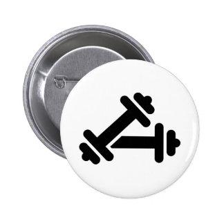 Entrenamiento de la pesa de gimnasia del Barbell Pins