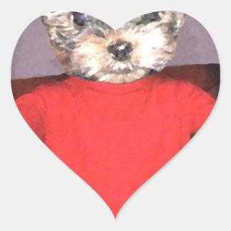 Entrenamiento de los perritos pegatina en forma de corazón