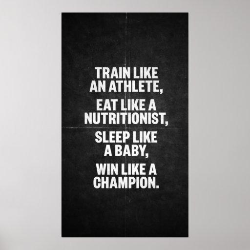 Entrenamiento de motivación poster