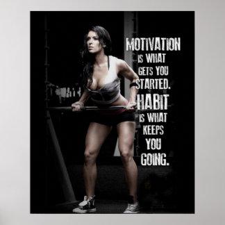 Entrenamiento de motivación póster