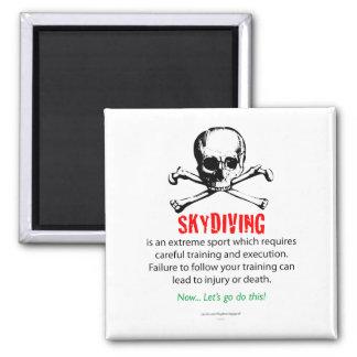 Entrenamiento de Skydiving Imán Cuadrado