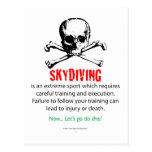 Entrenamiento de Skydiving Tarjeta Postal