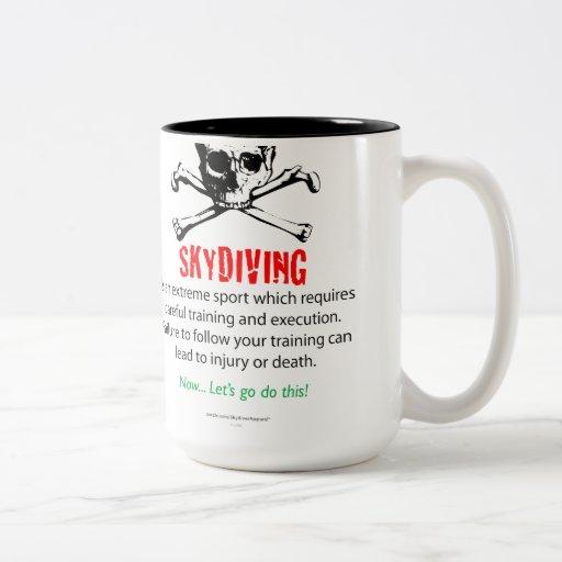 Entrenamiento de Skydiving Taza
