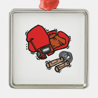 Entrenamiento del boxeo adorno de navidad
