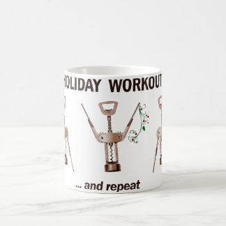 Entrenamiento del día de fiesta tazas de café