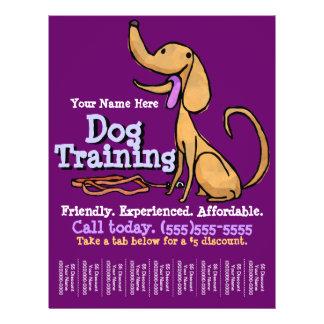 Entrenamiento del perro. Aviador promocional de en Tarjetas Informativas