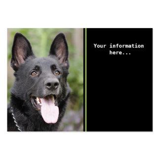 Entrenamiento del perro tarjetas de visita grandes