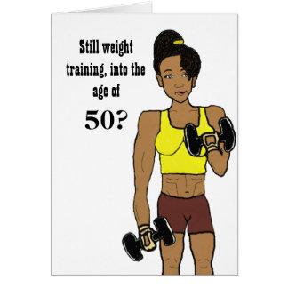 Entrenamiento del peso después de la tarjeta 50