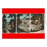 Entrenamiento del samurai con Tengu, circa 1859 Felicitacion