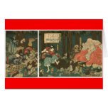 Entrenamiento del samurai con Tengu, circa 1859 Tarjetas