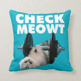 Entrenamiento - gato - compruebe Meowt Almohadas
