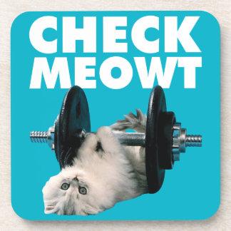 Entrenamiento - gato - compruebe Meowt Posavasos De Bebidas