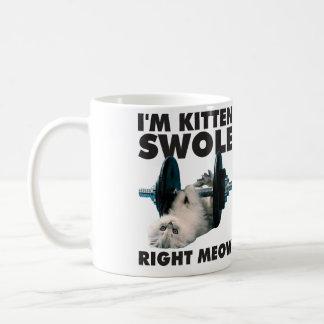 Entrenamiento - gato - soy maullido correcto de taza clásica